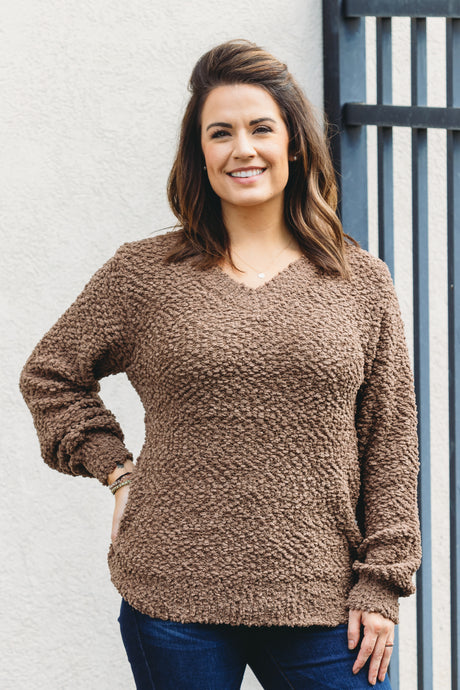 Piper Popcorn Sweater - Mocha