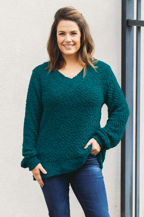 Piper Popcorn Sweater - Dark Teal