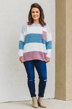 Load image into Gallery viewer, Zoe Stripe Sweater - Lavender