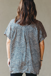 Whittier Top - Black/Toffee