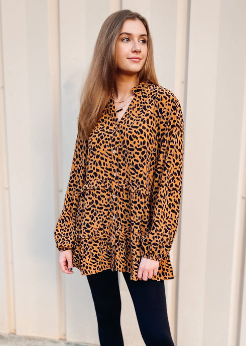 Tessa Tunic Top - Camel