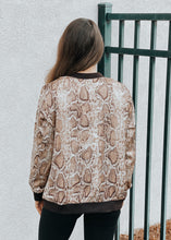 Load image into Gallery viewer, Blakely Bomber Jacket - Mocha Python