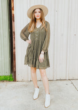 Load image into Gallery viewer, Bethany Baby Doll Dress - Olive
