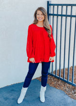Load image into Gallery viewer, Charis Tiered Top - Red