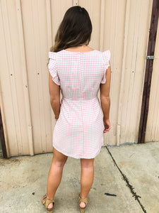 BuddyLove - Twiggy Dress - Pink Gingham - ellies-clothing-boutique