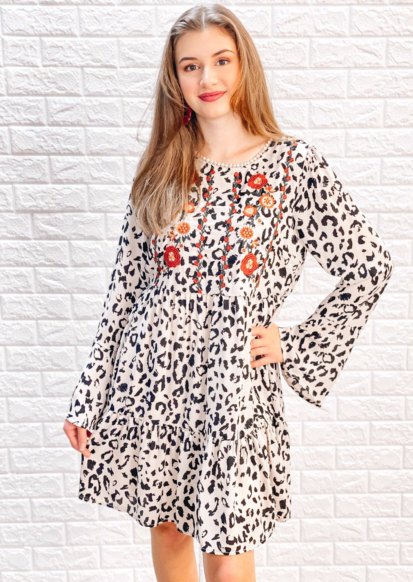 Savanna Dress - Taupe Leopard