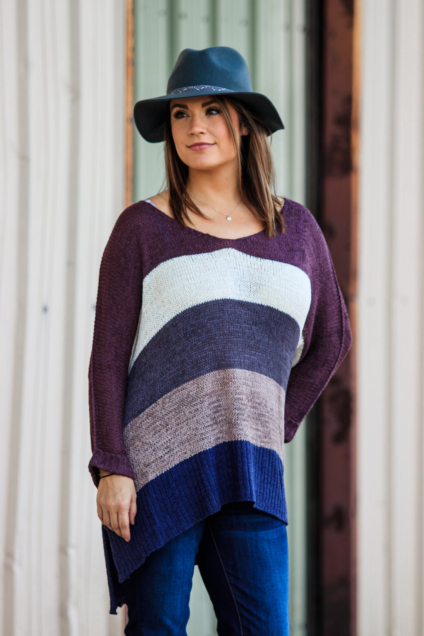 Caroline Color Block Sweater - ellies-clothing-boutique