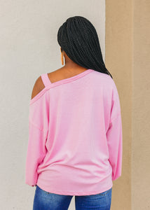 Hayden Cold Shoulder Top - Pink