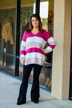 Load image into Gallery viewer, Serafina Stripe Sweater - Pink - ellies-clothing-boutique