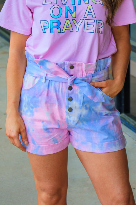 Demi Tie-Dye Shorts - Cotton Candy Mix