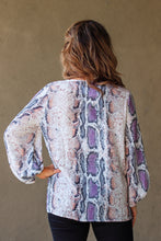Load image into Gallery viewer, Sawyer Snake Print Top - Purple Mix