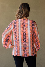 Load image into Gallery viewer, Sawyer Snake Print Top - Orange Mix
