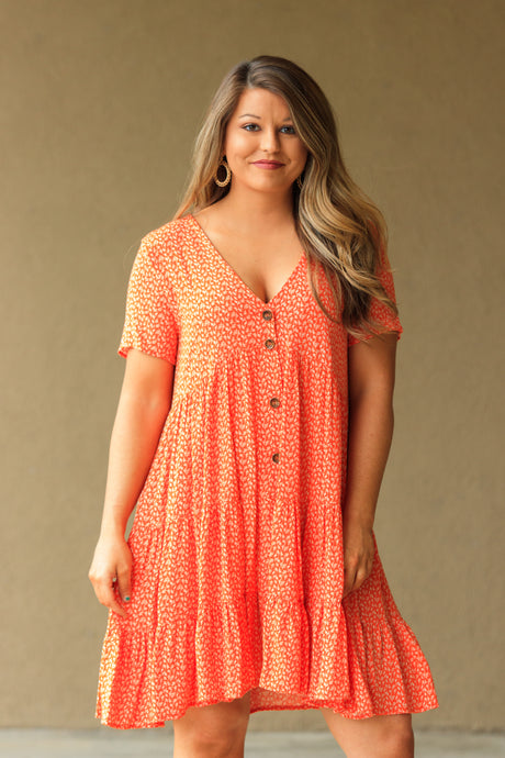 Mollie Dress - Tangerine