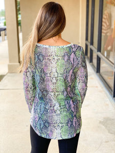 Stacy Top - Lavender/Green