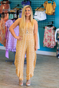 Arabella Jumpsuit - Mustard - ellies-clothing-boutique