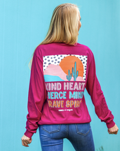 Load image into Gallery viewer, Kindness&Confetti: Kind Heart, Fierce Mind - Long Sleeve