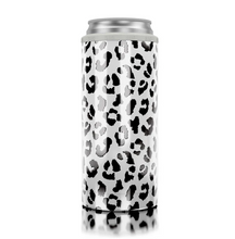 Load image into Gallery viewer, SIC Slim Can Cooler - White Leopard
