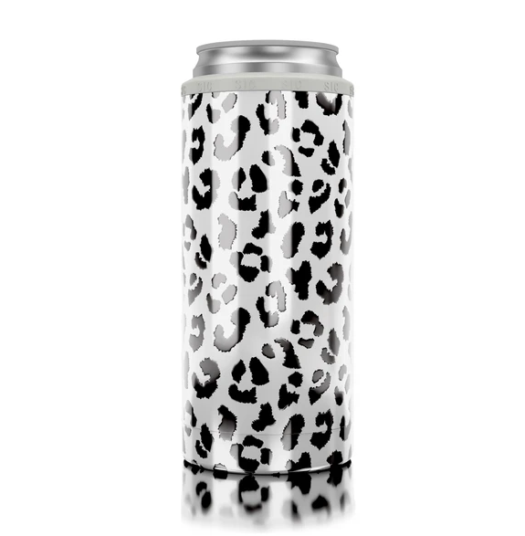 SIC Slim Can Cooler - White Leopard