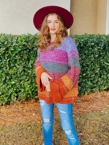 Stella Wide Sleeve Sweater - Multi