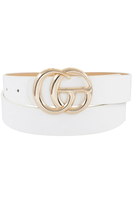 Genevieve Belt - White
