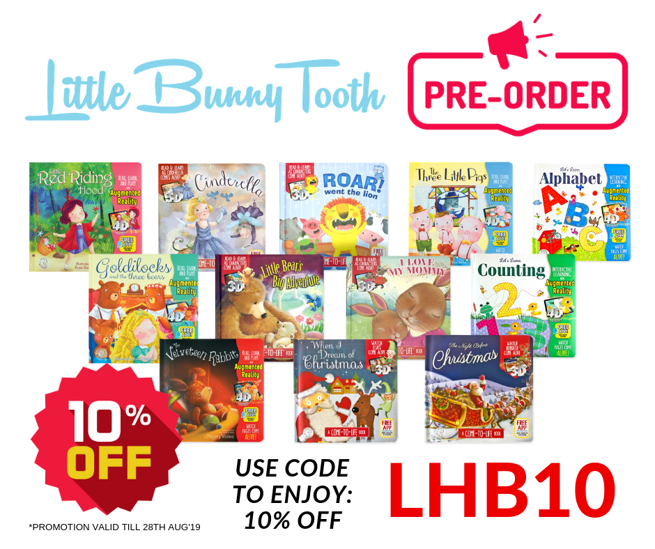 Little Hippo Come-to-Life Augmented Reality Books is now available on Little Bunny Tooth online store!