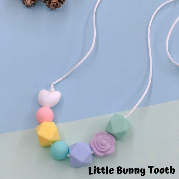 Silicone Teething Necklace - Ruby
