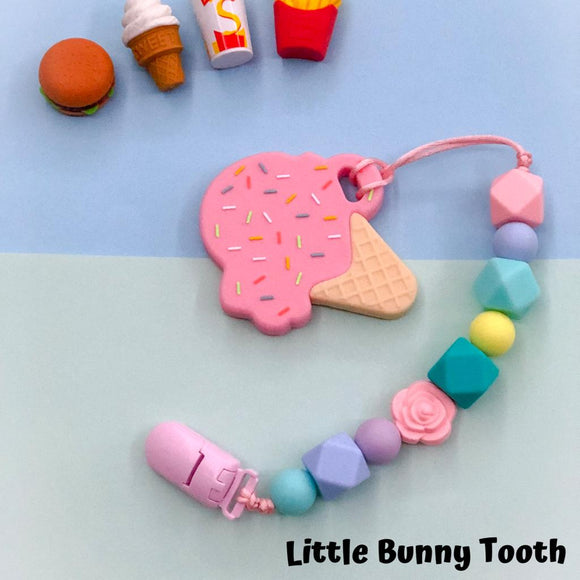 Pacifier Clip Set - Pink Ice Cream (PIC003)