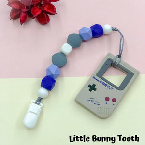 Pacifier Clip Set - Grey Gameboy (GG001)