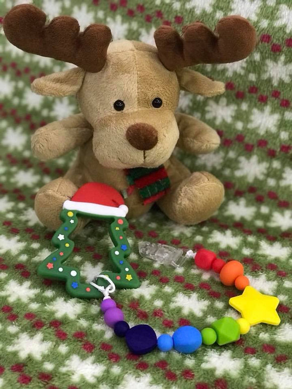 Pacifier Clip Set - Christmas Tree Teether (CTT001)
