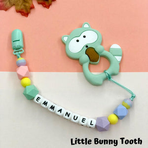 Pacifier Clip Set - Mint Raccoon (MR002)