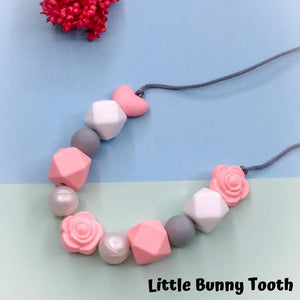Silicone Teething Necklace - Amber
