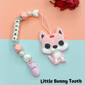 Pacifier Clip Set - Pink Husky (PHD001)