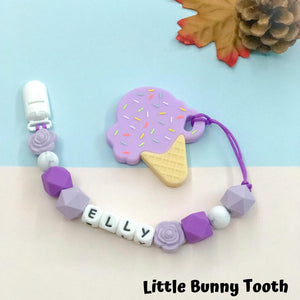 Pacifier Clip Set - Purple Ice Cream (PIC001)