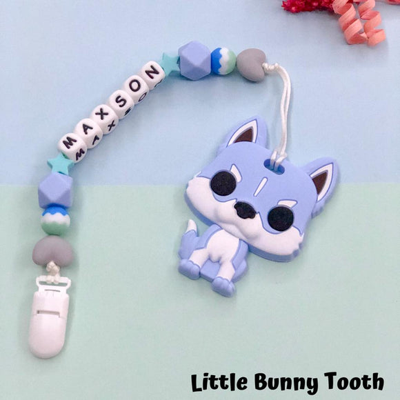 Pacifier Clip Set - Blue Husky (BH001)