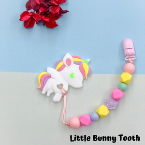 Pacifier Clip Set - Pastel Unicorn (PU003)