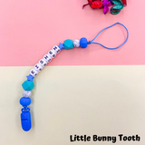 Pacifier Clip Set - Sky Blue Helm (SBH001)