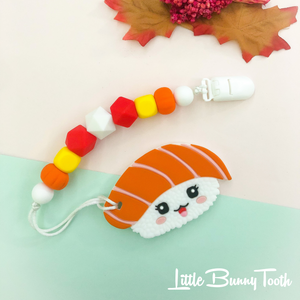 Pacifier Clip Set - Salmon Sushi Teether (SST001)