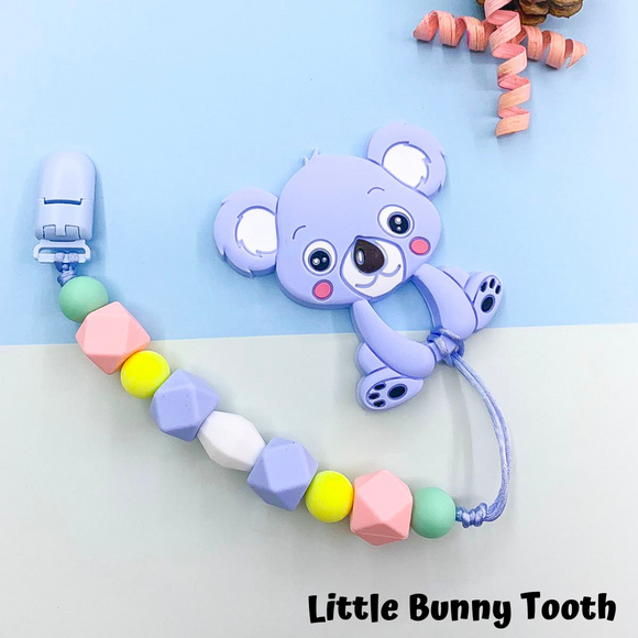 Pacifier Clip Set - Light Blue Koala (LBK002)