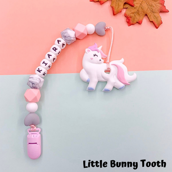 Pacifier Clip Set - Pastel Lovely Unicorn (PLA001)
