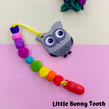 Pacifier Clip Set - Grey Owl (GO001)