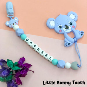 Pacifier Clip Set - Light Blue Koala (LBK001)