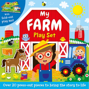 Press-Out and Play Board: My Farm Play Set
