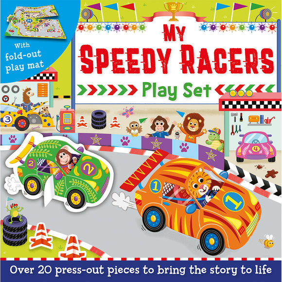 Press-Out and Play Board: My Speedy Racers Play Set