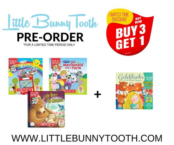 [PRE-ORDER] Little Hippo Book - Bundle B (BUY3FREE1)