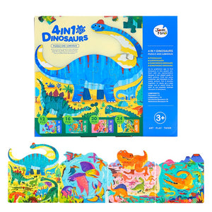 4 in 1 Dinosaur Puzzle and Luminous