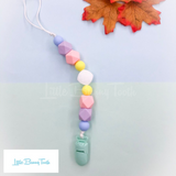 Pacifier Clip Set - Mint Pretzel (MP003)