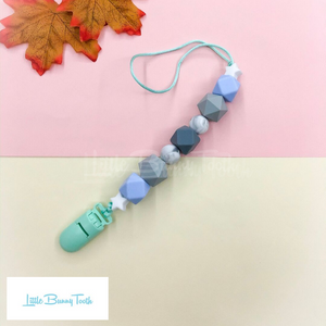 Pacifier Clip Set - Mint Train (MT001)