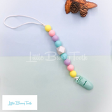 Pacifier Clip Set - Mint Pretzel (MP002)