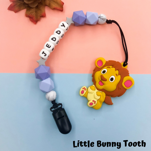 Pacifier Clip Set - LION (L002)