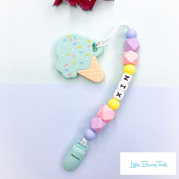 Pacifier Clip Set - Mint Ice cream (MIC003)
